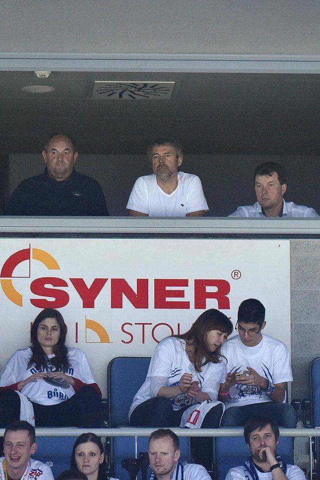 Zápas Liberec - Chomutov sledovali také Miroslav Pelta, Petr Kellner a Petr Syrovátko.