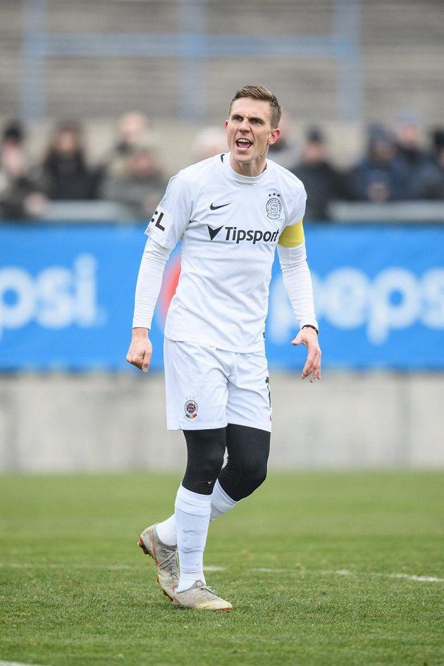 Bořek Dočkal ze Sparty Praha během přípravného utkání s FK Ústí nad Labem.