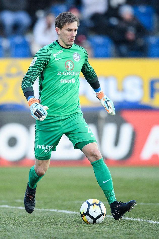 Brankář Slovácka Milan Heča.