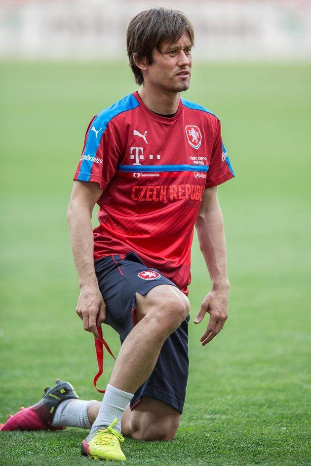 Kapitán národního týmu Tomáš Rosický.