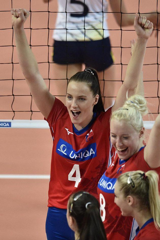 České volejbalistky si stejně jako loni zahrají v Evropské lize Final Four. Na snímku Gabriela Orvošová.