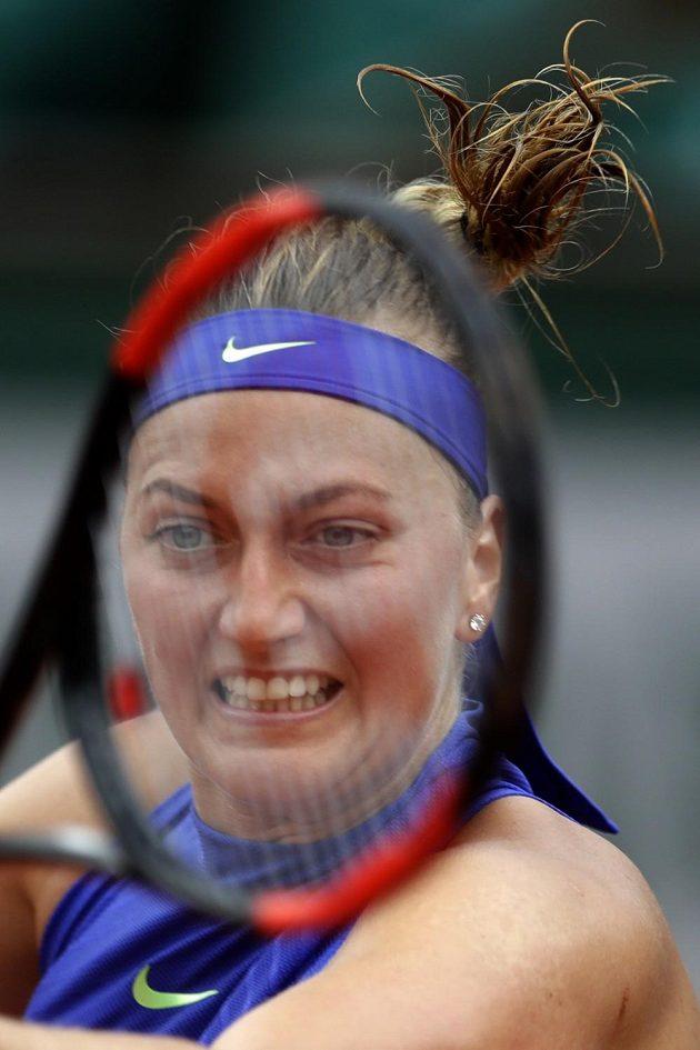 Petra Kvitová returnuje servis Američanky Boserupové.