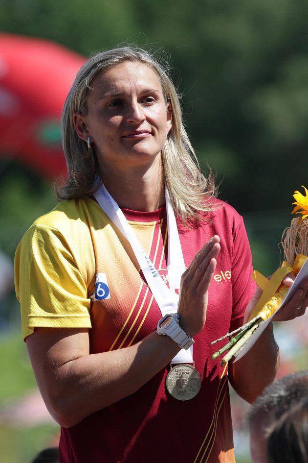 Vítězka v hodu oštěpem Barbora Špotáková.