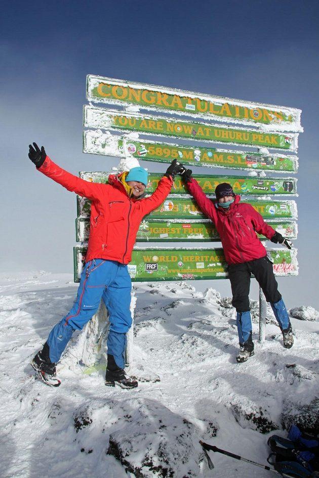Prokop na vrcholu Kilimandžára.
