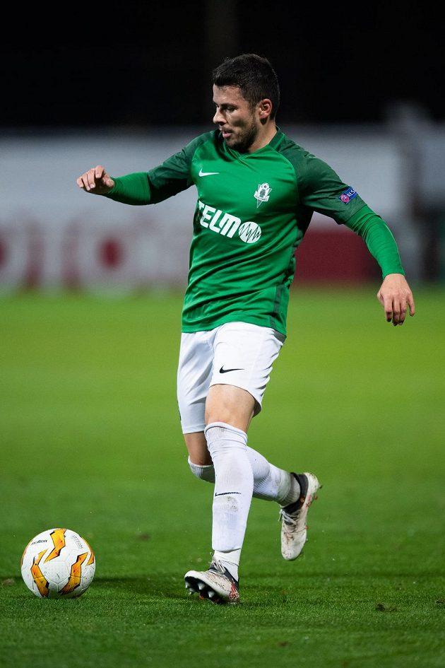 Vladimír Jovovič z Jablonce během utkání základní skupiny Evropské ligy s Astanou.