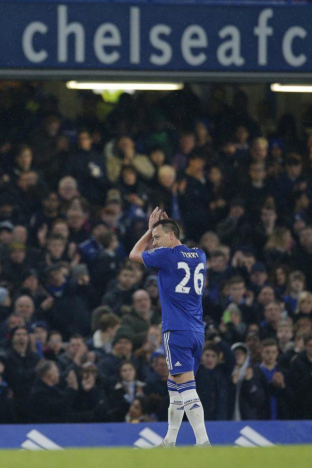 Zraněný stoper Chelsea John Terry musel střídat už v 38. minutě v zápase 26. kola anglické Premier League proti Newcastlu.