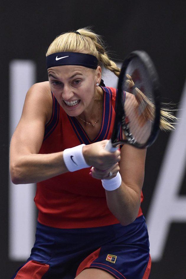 Petra Kvitová při utkání proti Jil Teichmannové ze Švýcarska.