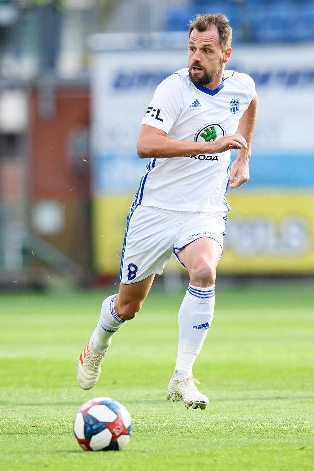 Marek Matějovský z Mladé Boleslavi během utkání s Plzní.