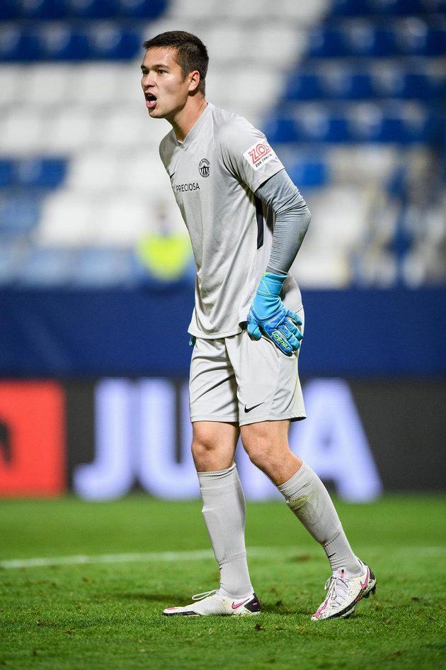 Brankář Slovan Liberec Filip Nguyen během utkání 4. předkola Evropské ligy.