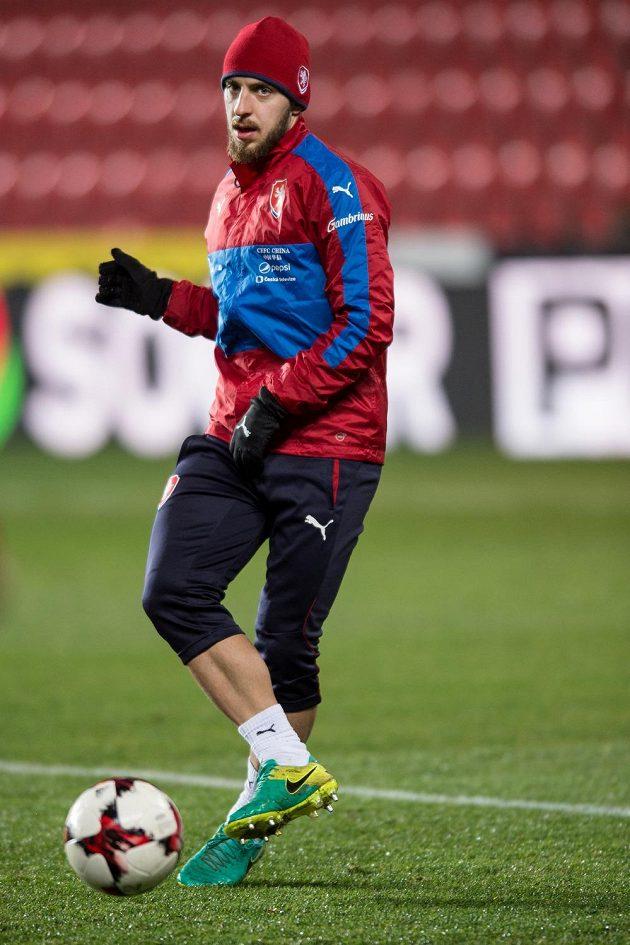 Jiří Skalák během tréninku národního týmu.