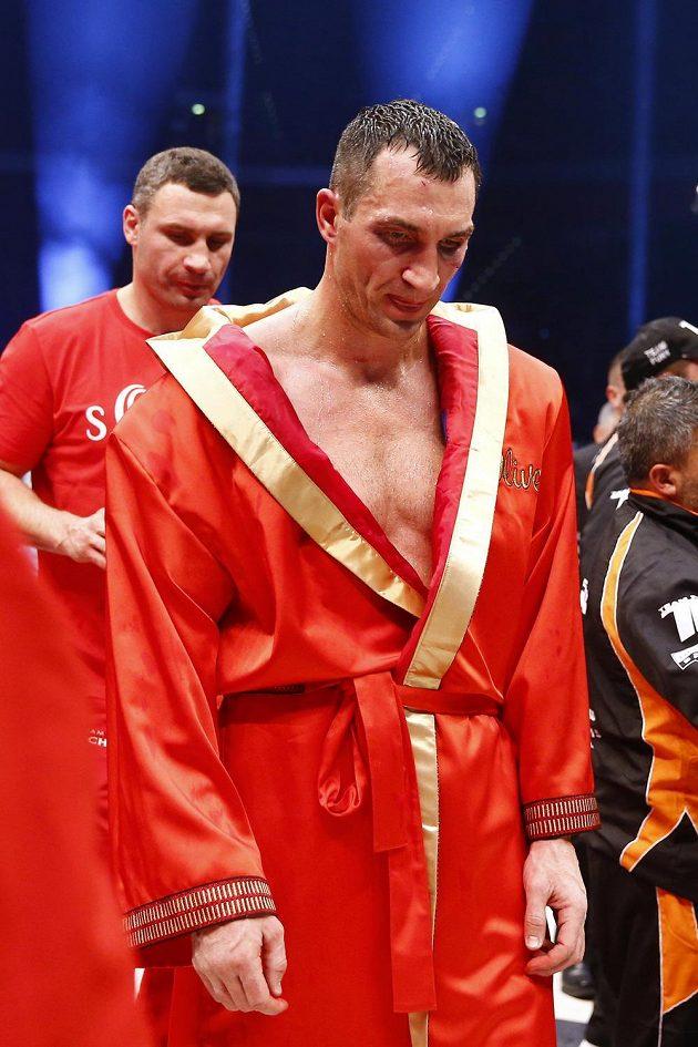 Vladimir Kličko po prohře s Tysonem Furym.