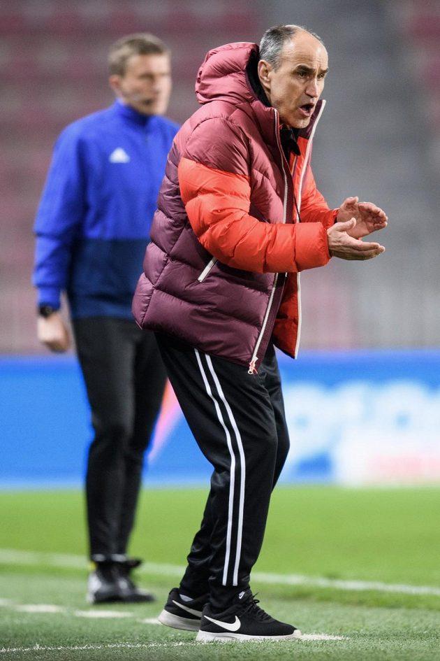 Trenér Sparty Václav Kotal ve čtvrtfinále Mol Cupu proti Baníku