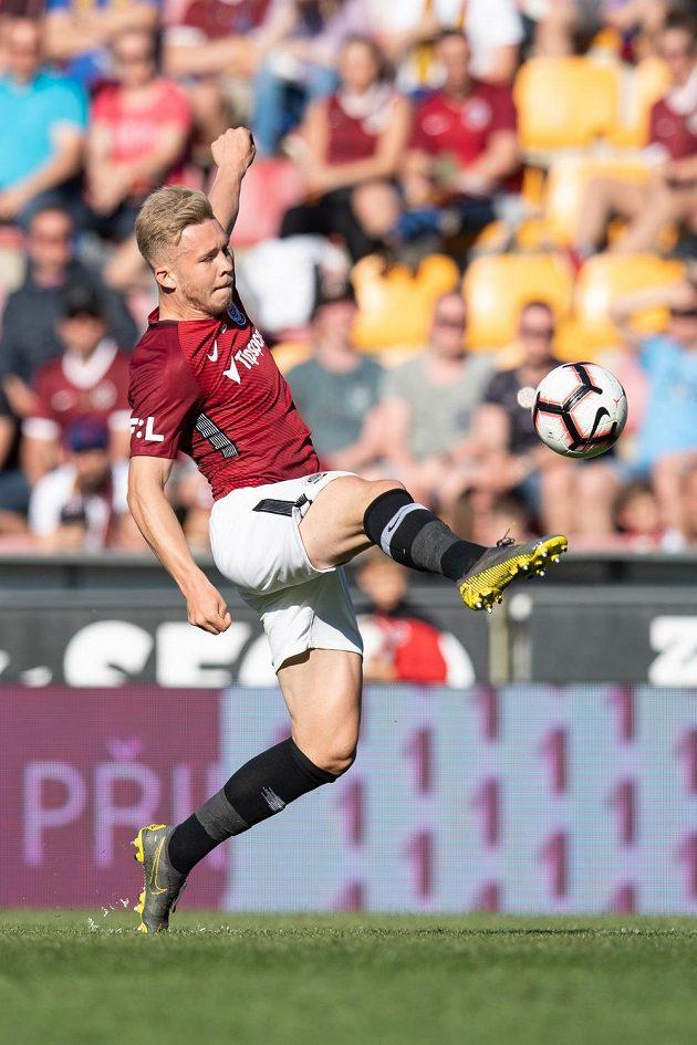 Václav Drchal ze Sparty Praha během utkání Fortuna ligy.