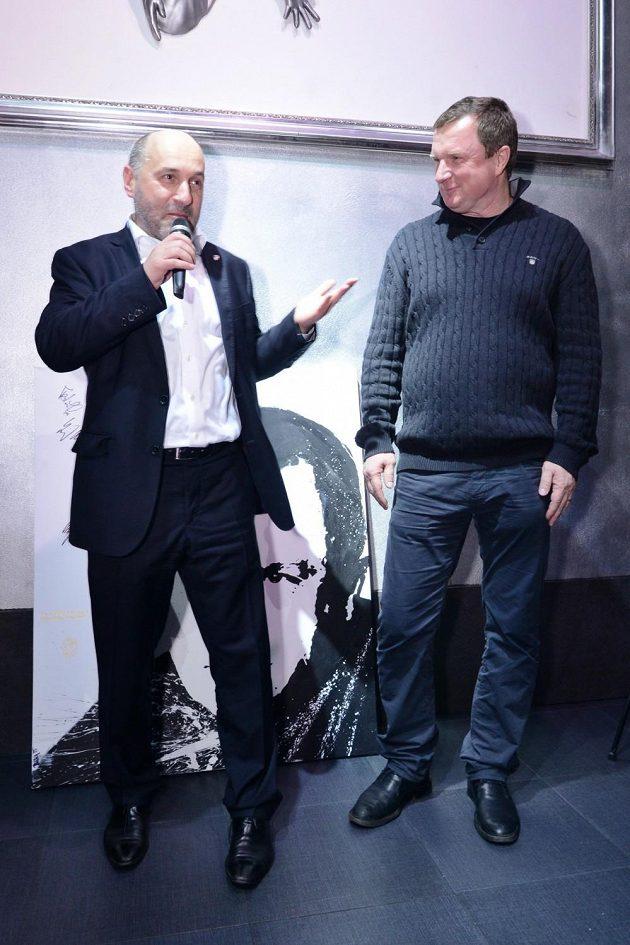Majitel Plzně Tomáš Paclík (vlevo) a Pavel Vrba.