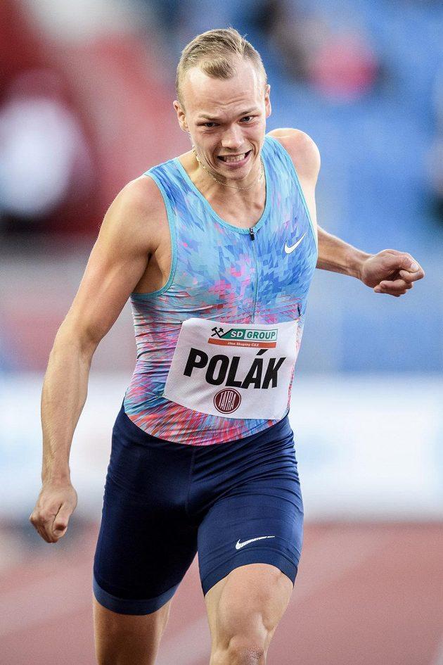 Sprinter Jiří Polák během atletického mítinku Zlatá tretra