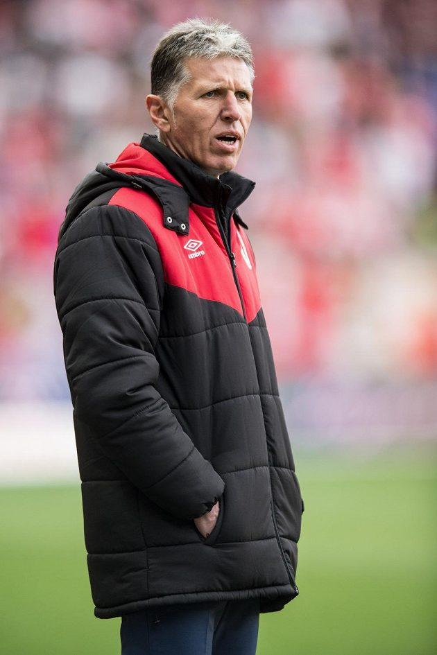 Trenér Slavie Praha Jaroslav Šilhavý během utkání s Jablonce.