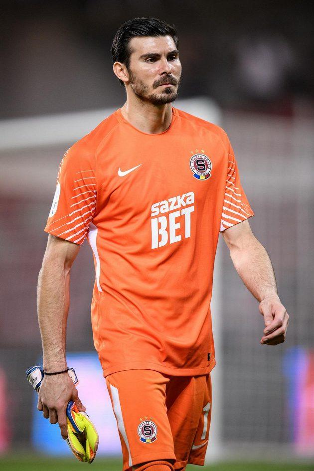 Florin Nita ze Sparty Praha během utkání s FK Jablonec.