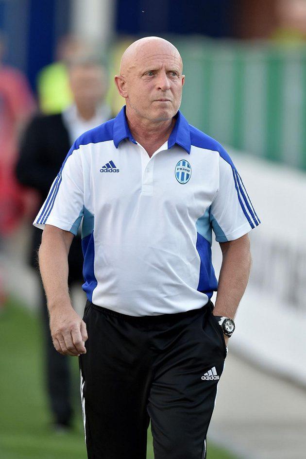 Mladoboleslavský trenér Karel Jarolím během úvodního utkání 2. předkola Evropské ligy s norským Strömsgodsetem.