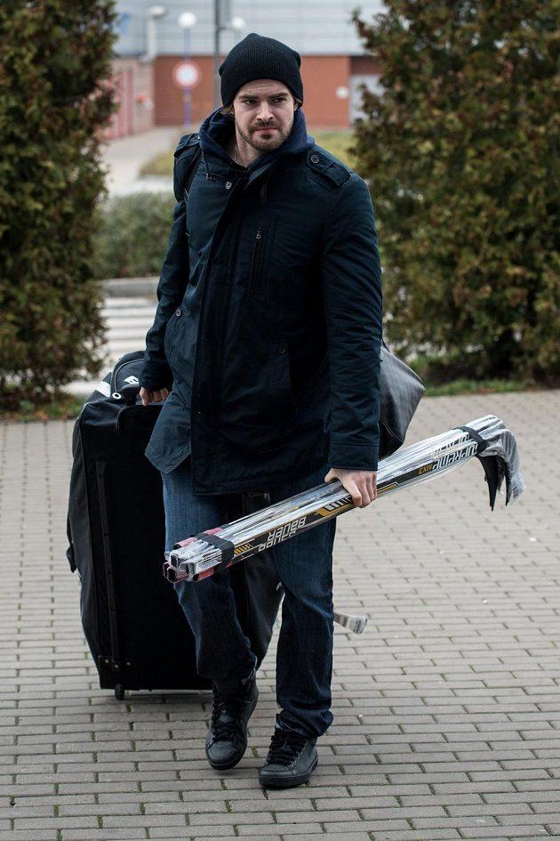 Hokejový útočník Roman Horák na srazu české reprezentace před turnajem Channel One Cup.