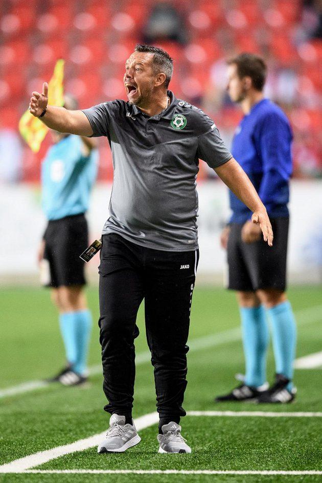 Trenér Příbrami Pavel Horváth během utkání 2. kola Fortuna ligy na Slavii.