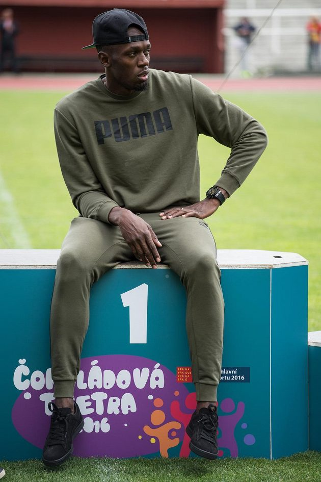 Jamajský sprinter Usain Bolt na Julisce.