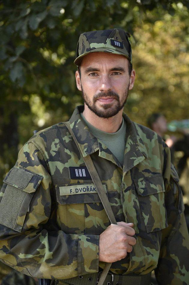 Rychlostní kanoista Filip Dvořák při cvičení v Březině.