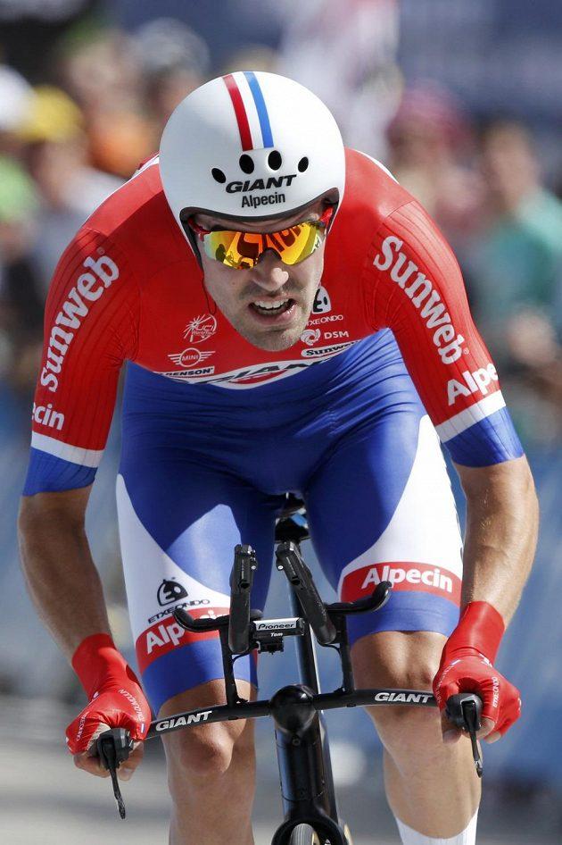 Nizozemec Tom Dumoulin skončil ve čtvrteční horské časovce druhý.