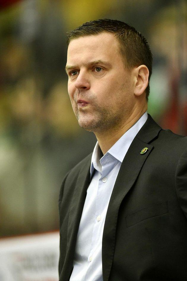 Karlovarský trenér Karel Mlejnek při utkání s Plzní.