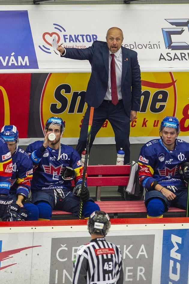 Trenér hokejových Českých Budějovic Jaroslav Modrý.