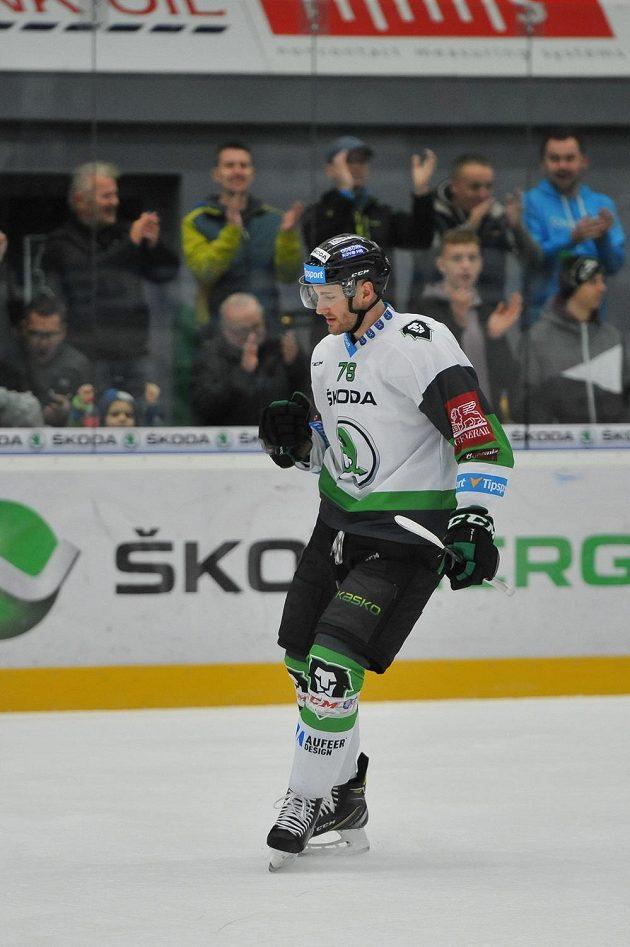 Lukáš Žejdl z Mladé Boleslavi slaví svůj gól proti Litvínovu.