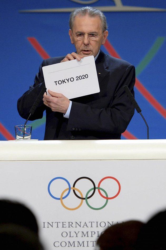 Prezident Mezinárodní olympijské federace (MOV) Jacques Rogge oznámil, že olympijské hry v roce 2020 uspořádá Tokio.