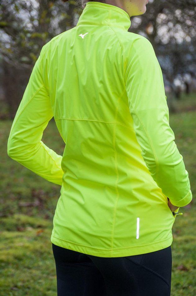 Běžecká bunda Mizuno Alpha Softshell Jacket - další bezpečnostní prvky.