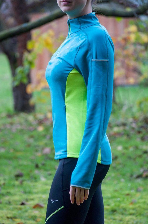 Dámská běžecká mikina Mizuno Vortex Warmalite - celkový pohled.