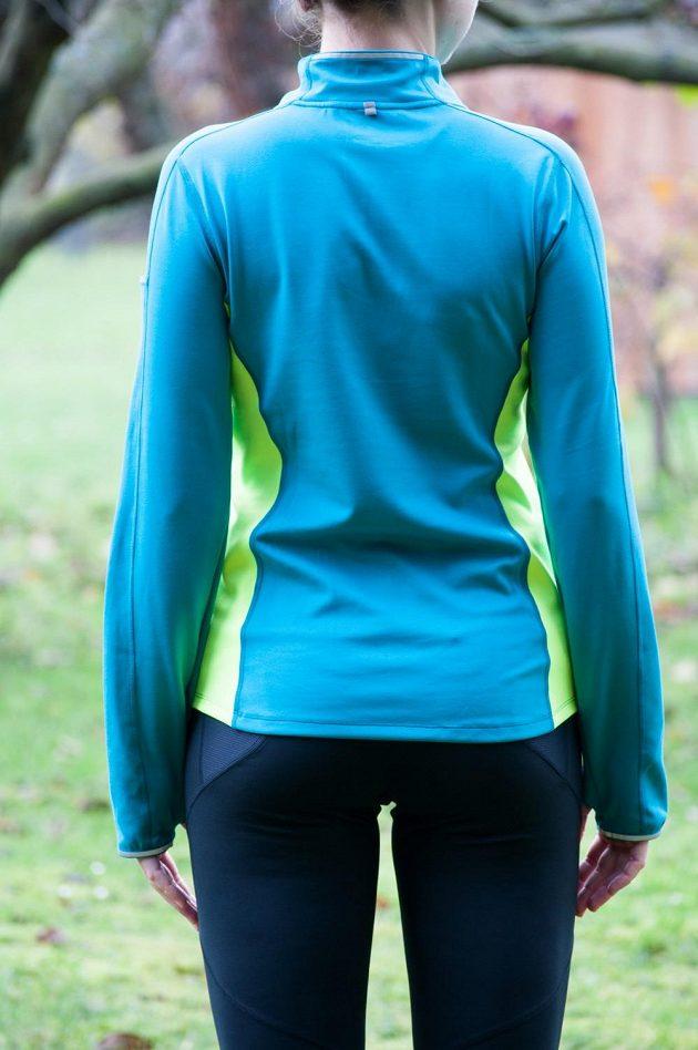 Dámská běžecká mikina Mizuno Vortex Warmalite - pohled zezadu.