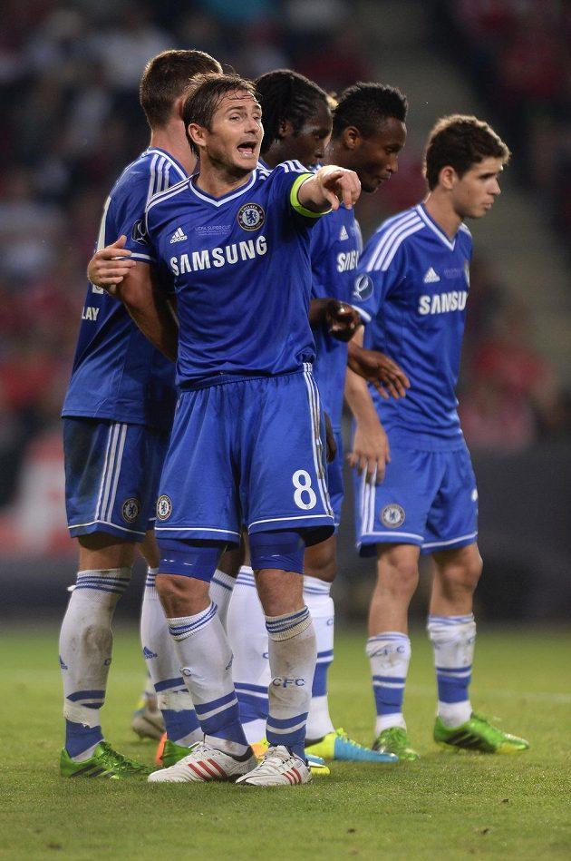 Záložník Chelsea Frank Lampard v utkání Superpoháru s Bayernem Mnichov.