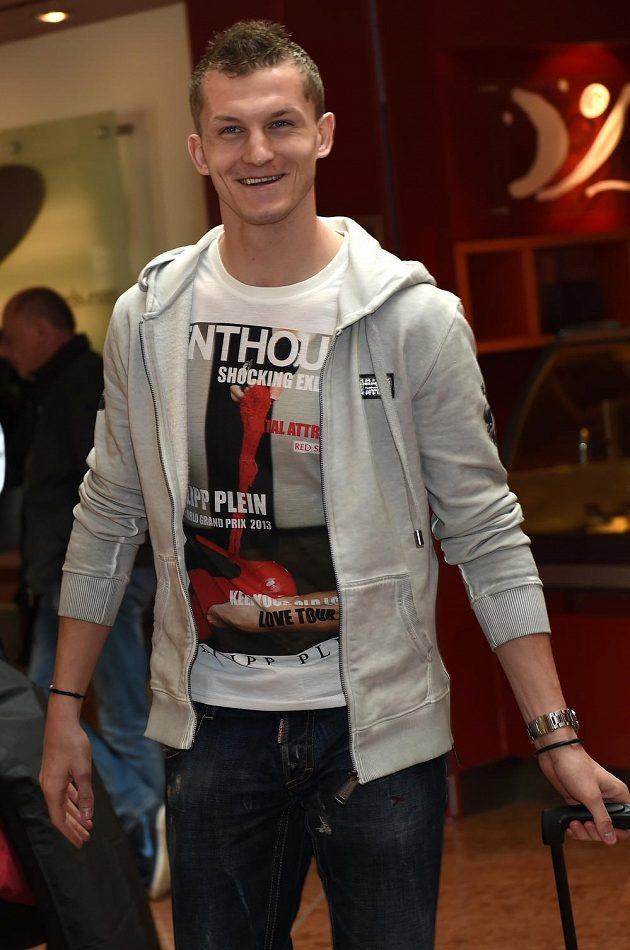 Útočník Tomáš Necid na reprezentačním srazu před kvalifikačním utkáním ME s Lotyšskem.