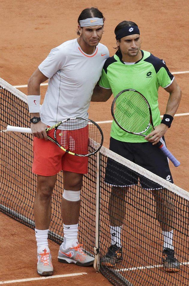 Španělský souboj - ve finále French Open se utkali Rafael Nadal a David Ferrer (vpravo).