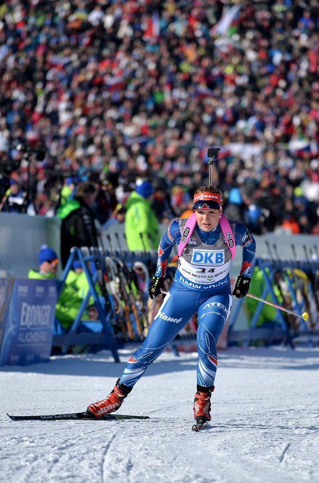 Gabriela Soukalová ve sprintu v Novém Městě na nejlepší netačila.