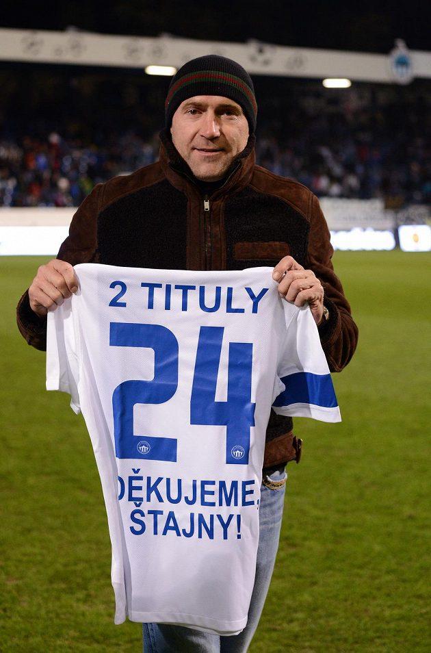 Bývalý hráč Slovanu Liberec Jiří Štajner se oficiálně rozloučil s fanoušky během utkání Evropské ligy s Estorilem.