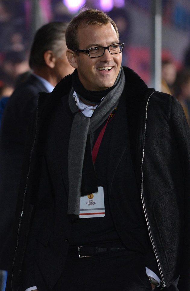 Majitel fotbalové Sparty Daniel Křetínský během utkání se Slovanem Bratislava.