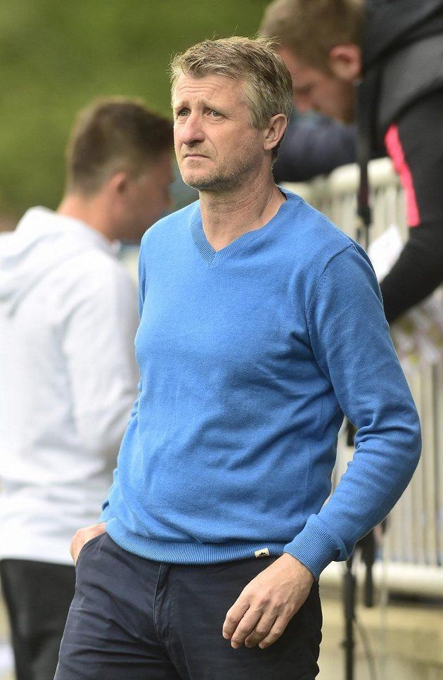 Trenér Sparty Michal Horňák před zápasem v Opavě.