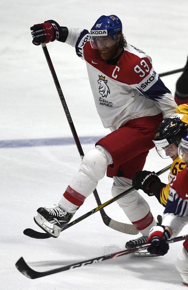 Jakub Voráček vstřelil druhý český gól proti Německu.