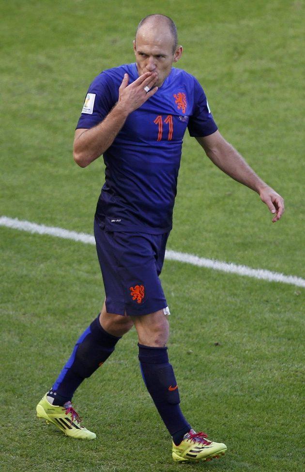 Arjen Robben dal vedoucí gól Nizozemců proti Austrálii.