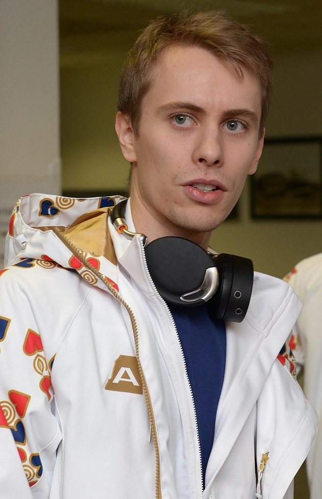 Krasobruslař Michal Březina před odletem na Zimní olympijské hry v Soči.