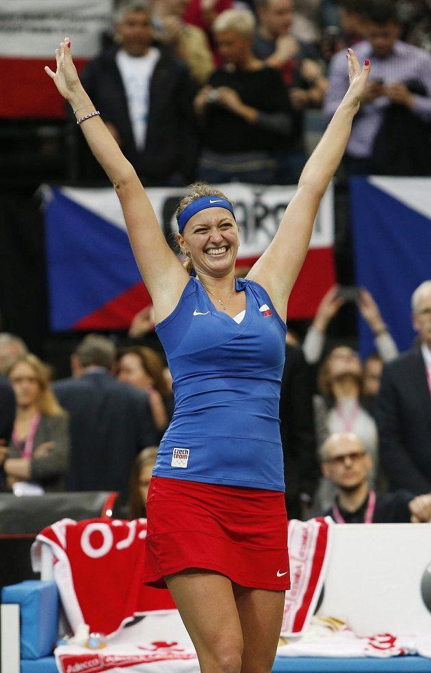 Petra Kvitová to dokázala! Pro ČR získala třetí triumf ve Fed Cupu za poslední čtyři roky.