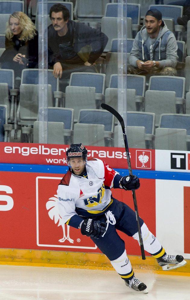 Útočník Jönköpingu Martin Thörnberg se raduje z gólu.