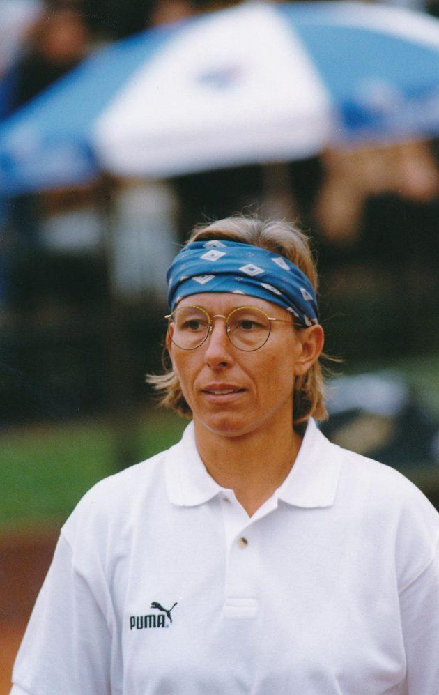 Tenistka Martina Navrátilová.