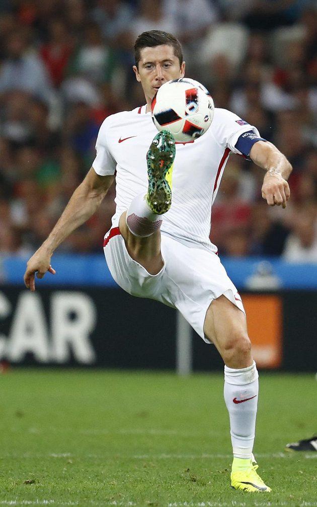 Kapitán polských fotbalistů Robert Lewandowski.