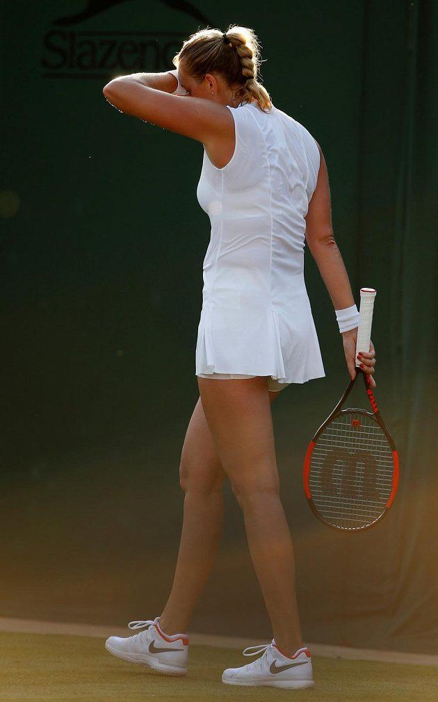 Konec! Dvojnásobná šampiónka Wimbledonu Petra Kvitová při svém comebacku dohrála ve 2. kole.