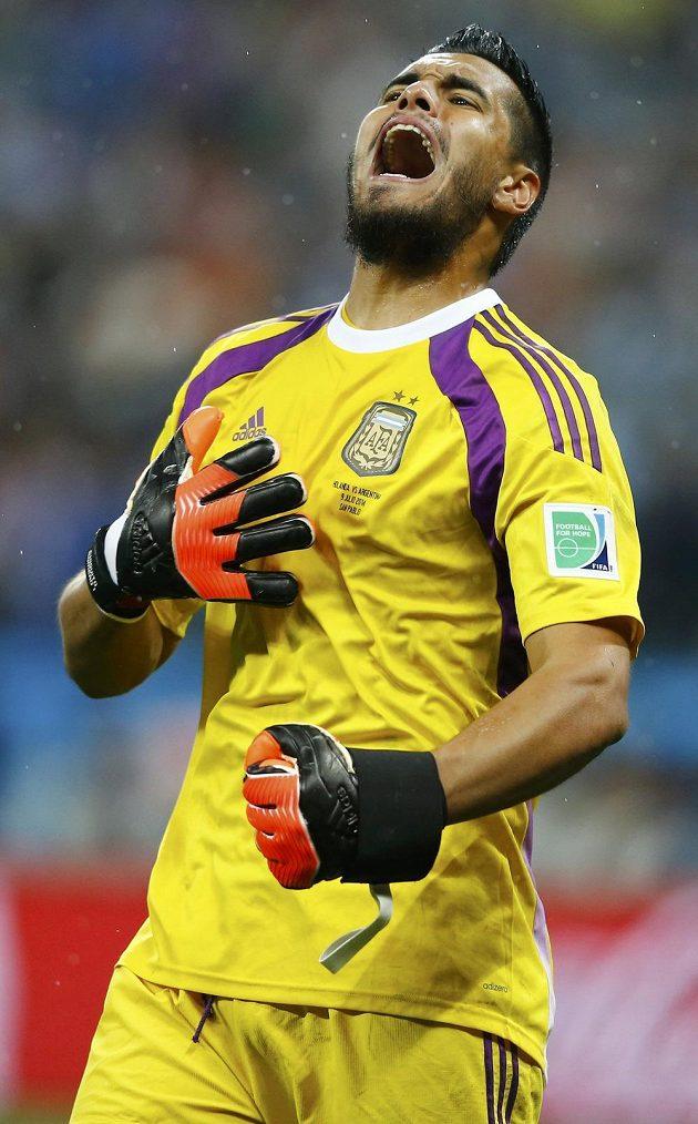 Sergio Romero likvidoval dva nizozemské pokusy.